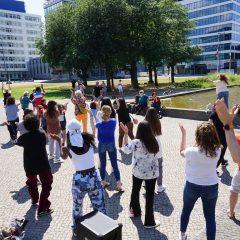 Dancing on Ernst-Reuter-Platz